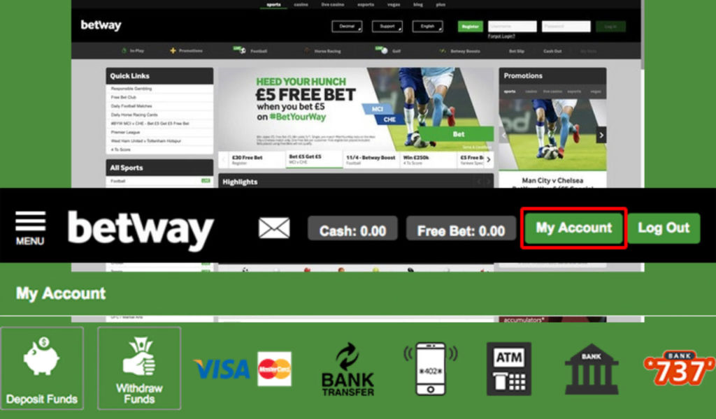 Betway Payment options