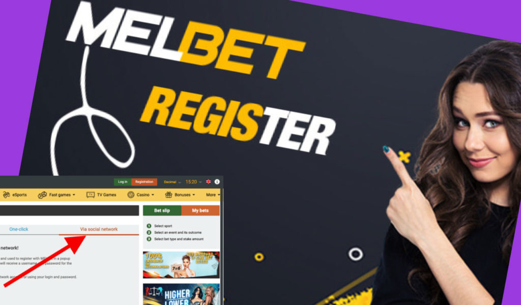 registering yourself at Melbet